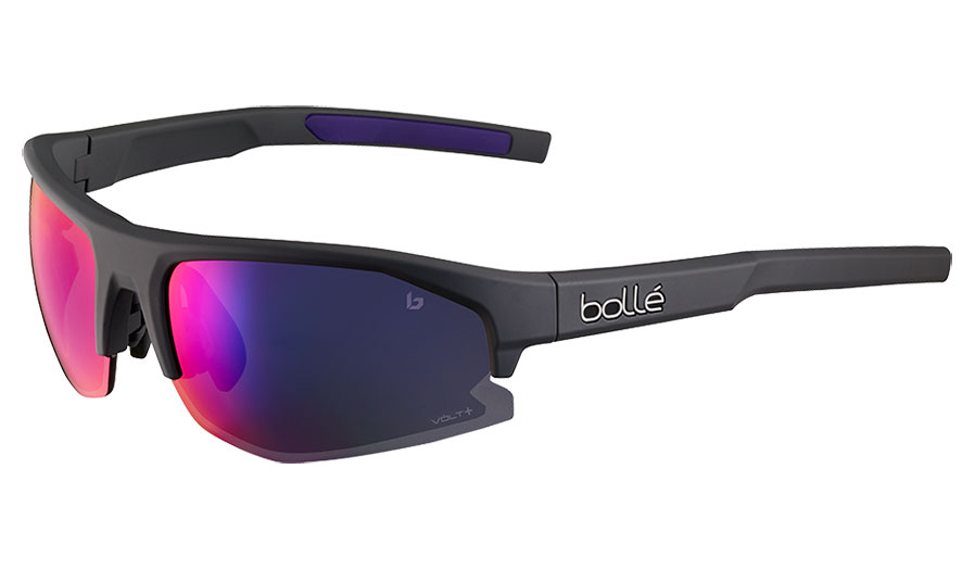 Bolle Bolt 2.0 S Sunglasses - Matte Titanium / Volt+ Ultraviolet Polarised