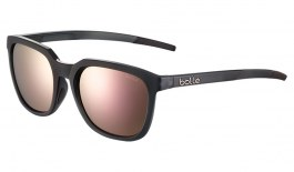 Bolle Talent Sunglasses - Matte Crystal Black / Brown Pink Polarised