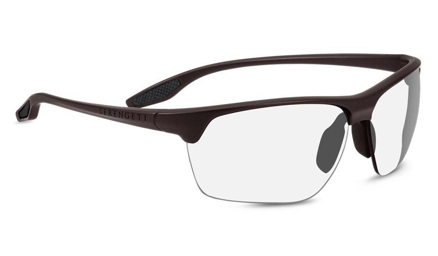 30fe9bc408c52 Serengeti Linosa Prescription Sunglasses - Sanded Dark Brown - RxSport