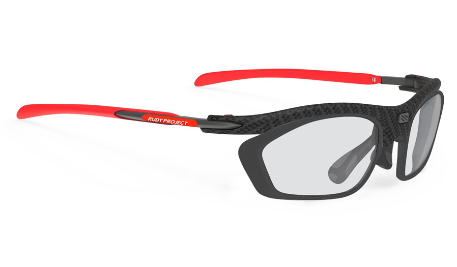 Rudy Project Rydon Slim Prescription Sunglasses - Optical Dock - Carbonium & Red