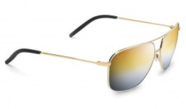 Maui Jim Kami Sunglasses - Gold with White / Dual Mirror Gold to Silver Polarised