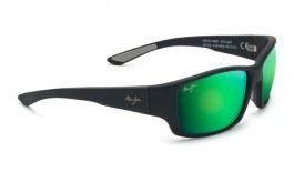 Maui Jim Local Kine Sunglasses - Soft Black with Dark Transparent Green and Light Transparent Grey / MauiGreen Polarised