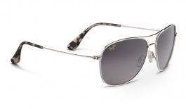 Maui Jim Cliff House Sunglasses - Silver / Neutral Grey Polarised