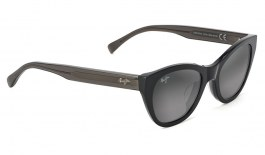 Maui Jim Capri Sunglasses - Black with Transparent Dark Grey / Neutral Grey Polarised