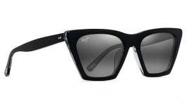 Maui Jim Kini Kini Sunglasses - Black with Crystal / Neutral Grey Polarised