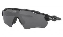 Oakley Radar EV XS Path Sunglasses - Polished Black / Prizm Black Polarised