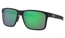 Oakley Holbrook Metal Sunglasses - Matte Black / Jade Iridium