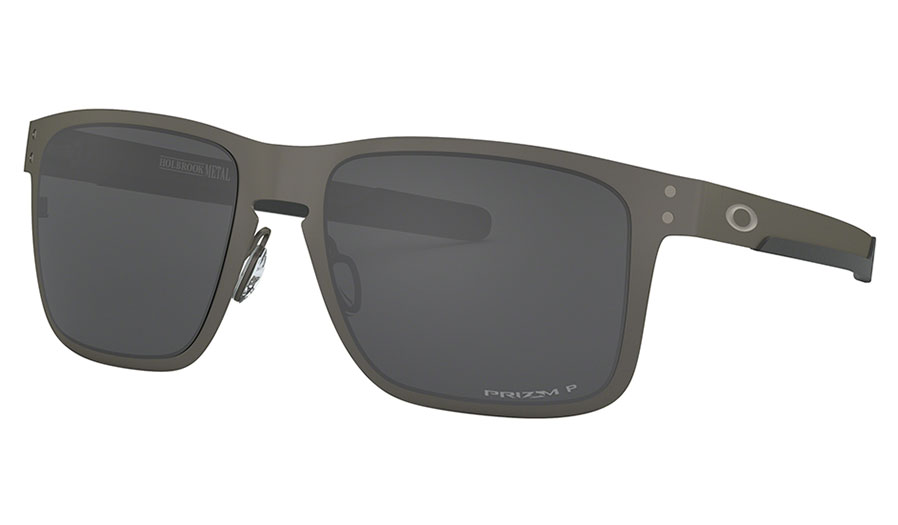 Oakley Holbrook Metal Sunglasses - Matte Gunmetal / Prizm Black Polarised