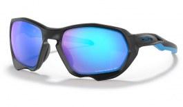 Oakley Plazma Sunglasses - Matte Black / Prizm Sapphire Polarised