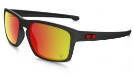 Oakley Sliver Sunglasses - Scuderia Ferrari Collection - Matte Black / Ruby Iridium