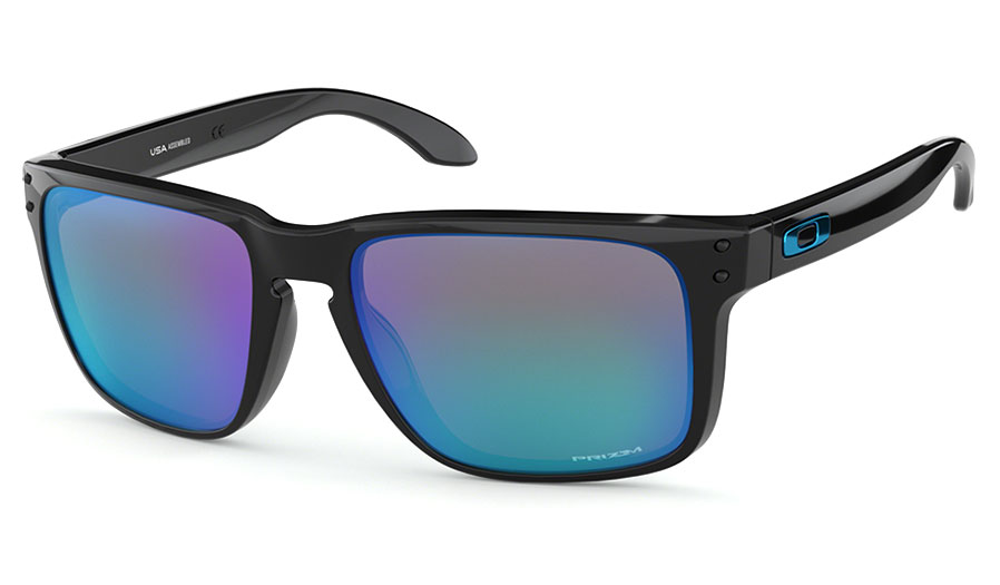 c986d1fee1 Oakley Holbrook XL Sunglasses - Polished Black   Prizm Sapphire ...