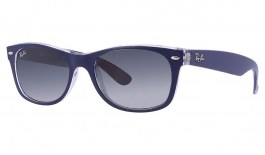 Ray-Ban RB2132 New Wayfarer Sunglasses - Blue & Transparent / Grey Gradient
