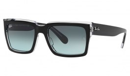 Ray-Ban RB2191 Inverness Sunglasses - Black on Transparent / Blue Gradient
