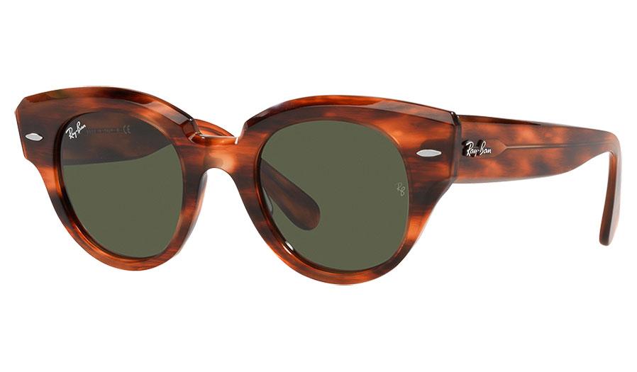 Ray-Ban RB2192 Roundabout Sunglasses - Havana / Green