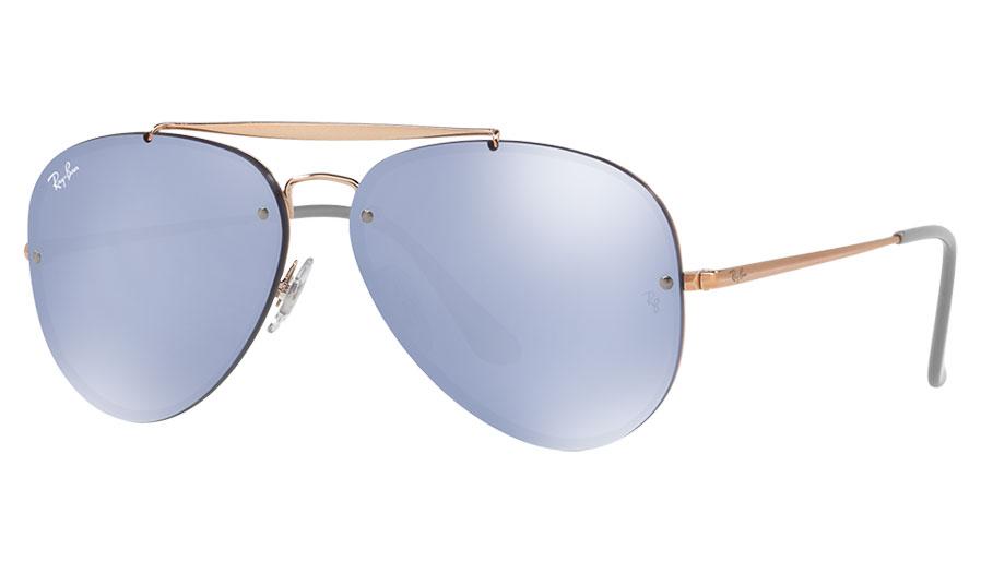 4266f833693 Ray-Ban RB3584N Blaze Aviator Sunglasses - Bronze Copper   Violet ...
