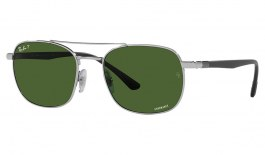 Ray-Ban RB3670CH Sunglasses - Silver / Green Crystal Chromance Polarised