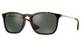 Ray-Ban RB4187 Chris Sunglasses - Tortoise & Gunmetal / Green