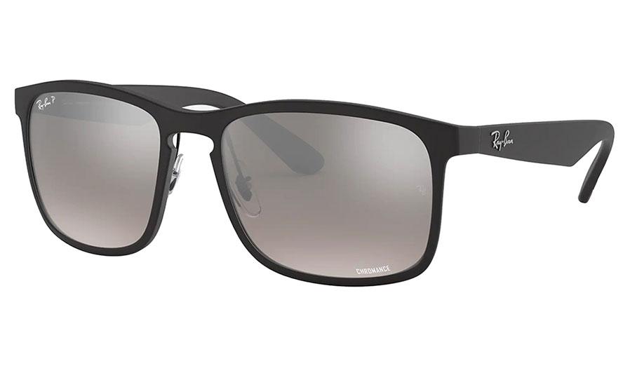 Ray-Ban RB4264 Sunglasses - Matte Black / Silver Mirror Chromance Polarised