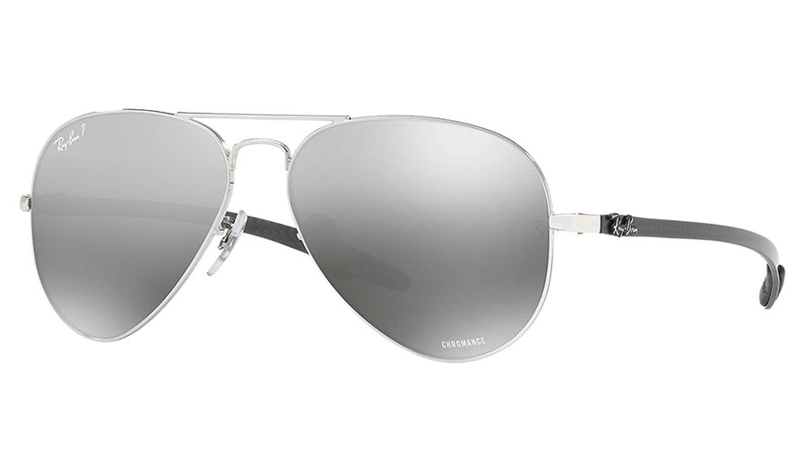 Ray-Ban RB8317CH Chromance Sunglasses - Silver / Silver