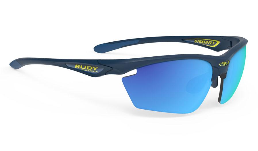 Rudy Project Stratofly Prescription Sunglasses - Clip-On Insert - Matte Navy Blue / Multilaser Blue