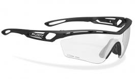 Rudy Project Tralyx Prescription Sunglasses - Clip-On Insert - Matte Black / ImpactX 2 Photochromic Black