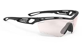 Rudy Project Tralyx Prescription Sunglasses - Clip-On Insert - Matte Black / ImpactX 2 Photochromic Laser Red