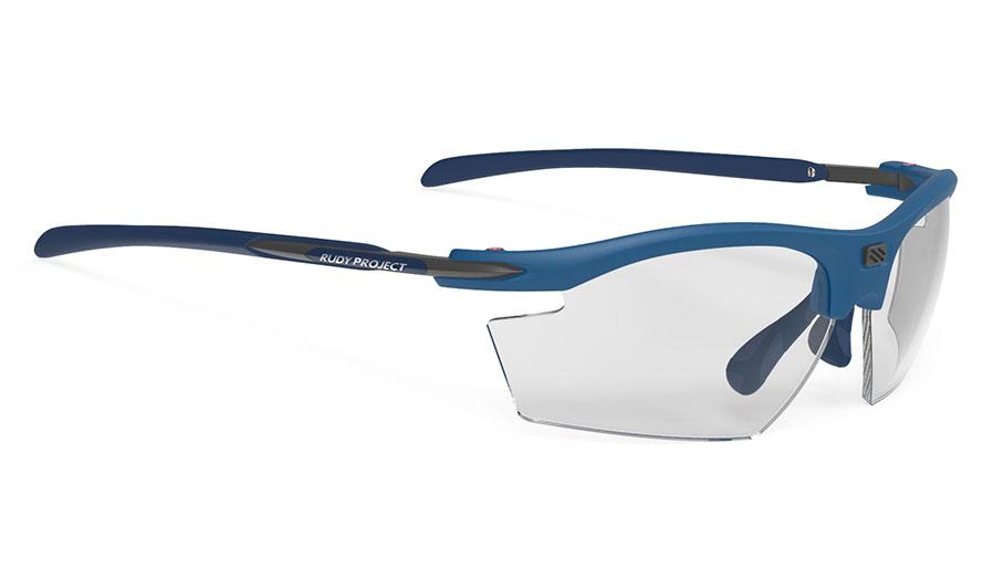 Rudy Project Rydon Prescription Sunglasses - Clip-On Insert - Matte Pacific Blue / ImpactX 2 Black Photochromic