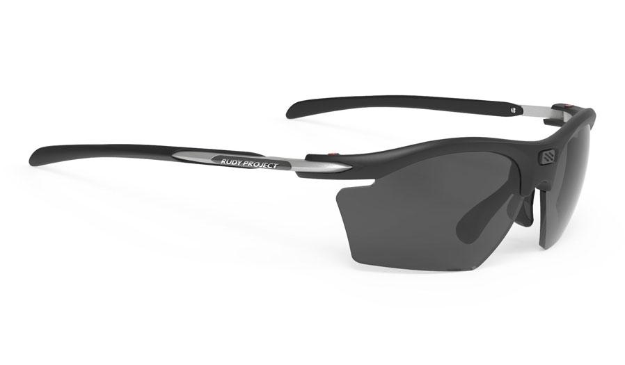 Rudy Project Rydon Slim Prescription Sunglasses - Clip-On Insert - Matte Black / Polar 3FX Grey