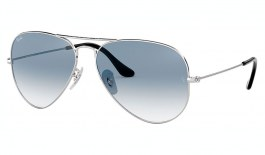 Ray-Ban RB3025 Aviator Sunglasses - Silver / Blue Gradient
