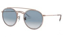 Ray-Ban RB3647N Round Double Bridge Sunglasses - Copper / Light Blue Gradient