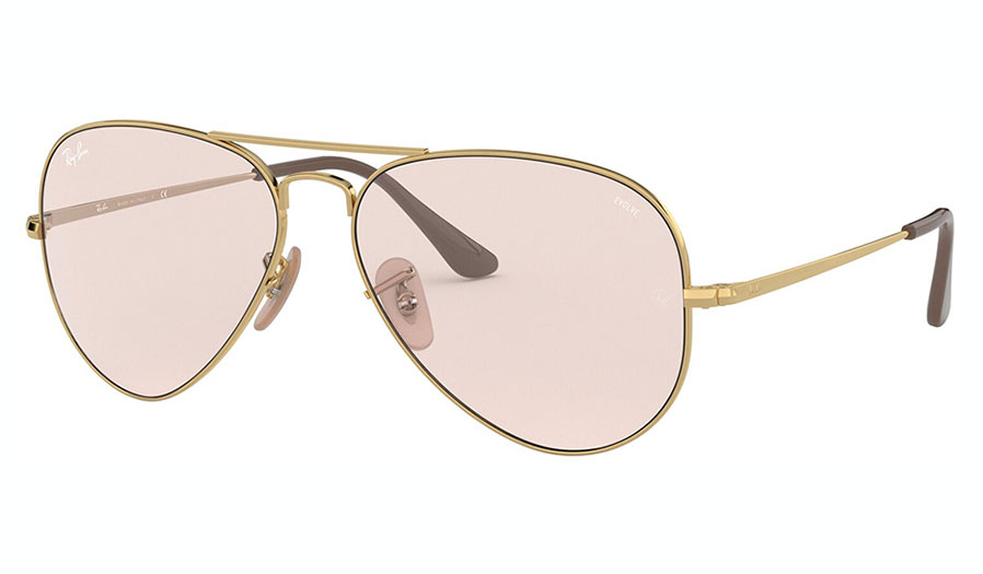 Ray-Ban RB3689 Sunglasses - Gold / Evolve Pink Violet Photochromic