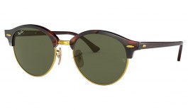 Ray-Ban RB4246 Clubround Sunglasses - Tortoise / Green Classic