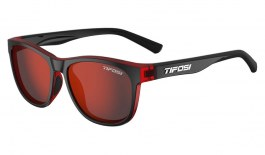 Tifosi Swank Sunglasses - Crimson & Onyx / Smoke Red