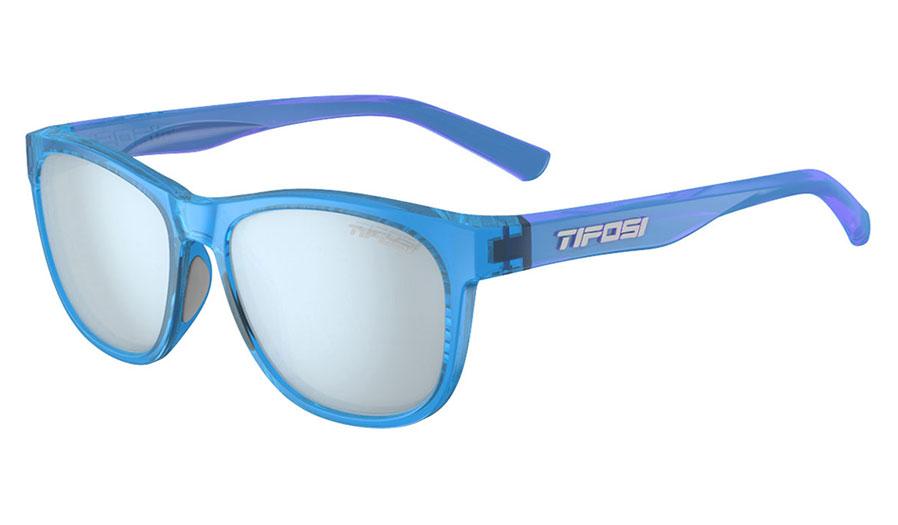 Tifosi Swank Sunglasses - Crystal Sky Blue / Smoke Bright Blue