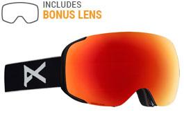 Anon M2 Ski Goggles - Black / Sonar Red + Sonar Blue