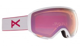 Anon WM1 Ski Goggles - Pearl White / Perceive Cloudy Pink + Perceive Variable Blue