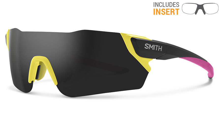 Smith Attack Prescription Sunglasses w/ODS4 Insert - Matte Citron / ChromaPop Sun Black Mirror + ChromaPop Contrast Rose Flash