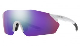 Smith Reverb Sunglasses - Matte White / ChromaPop Violet Mirror + ChromaPop Contrast Rose
