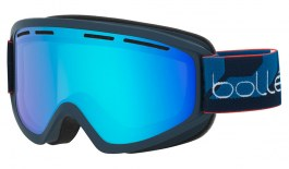 Bolle Schuss Ski Goggles - Matte Navy / Light Vermillon Blue