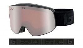 Bolle Nevada Prescription Ski Goggles - Matte Black Corp / Vermillon Gun