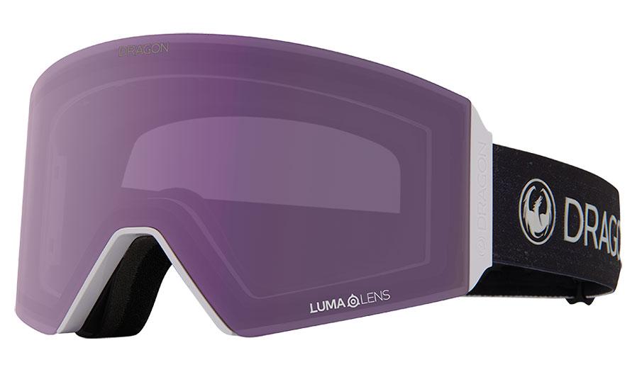 Dragon RVX OTG Ski Goggles - Pearl / Lumalens Violet + Lumalens Dark Smoke