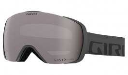 Giro Contact Ski Goggles - Grey Wordmark / Vivid Onyx + Vivid Infrared