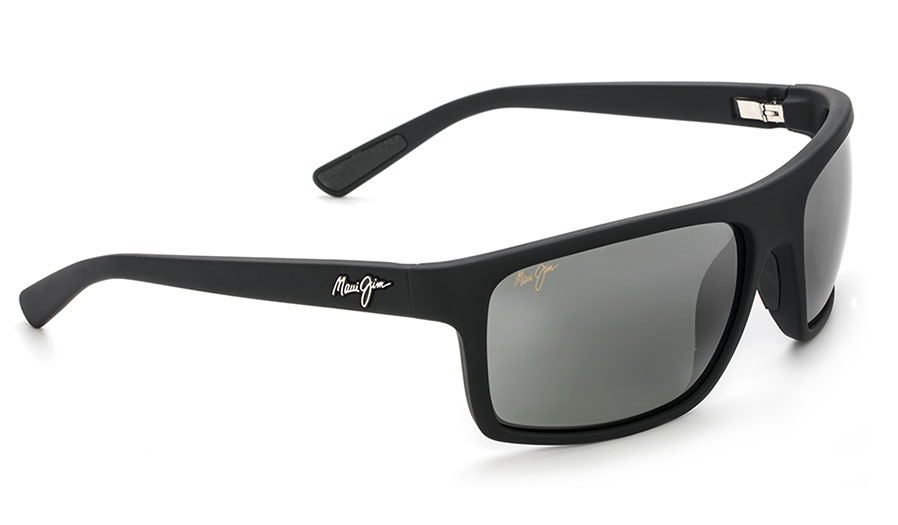 Maui Jim Byron Bay Sunglasses - Matte Black Rubber / Neutral Grey Polarised