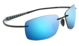 Maui Jim Kumu Sunglasses - Black Gloss / Blue Hawaii Polarised