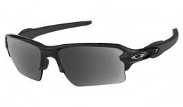 Oakley Flak 2.0 XL Prescription Sunglasses - Polished Black (Chrome Icon)