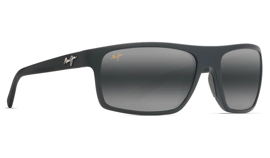 Maui Jim Byron Bay Prescription Sunglasses - Matte Black Rubber