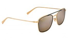 Maui Jim Following Seas Sunglasses - Matte Gold & Gloss Black / HCL Bronze Polarised