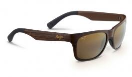 Maui Jim Kahi Sunglasses - Matte Brown Wood Grain / HCL Bronze Polarised