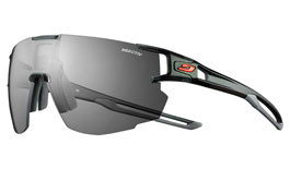 Julbo Aerospeed Prescription Sunglasses - Clip-On Insert - Translucent Black & Grey / Reactiv Performance 0-3 Photochromic