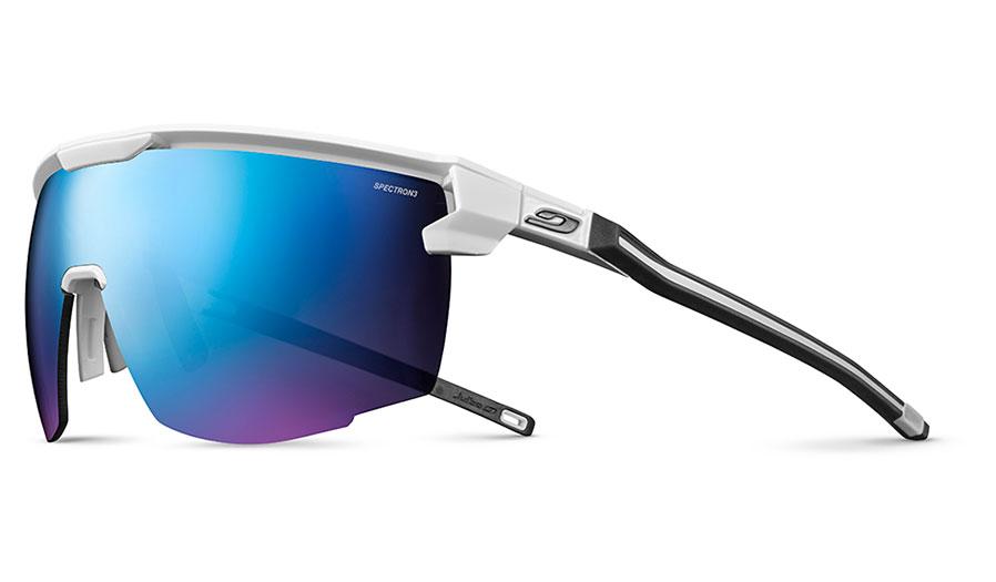 Julbo Ultimate Sunglasses - Matte White & Black / Spectron 3 CF Blue